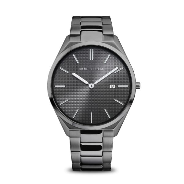 Ultra Slim   grau poliert/gebürstet   17240-777